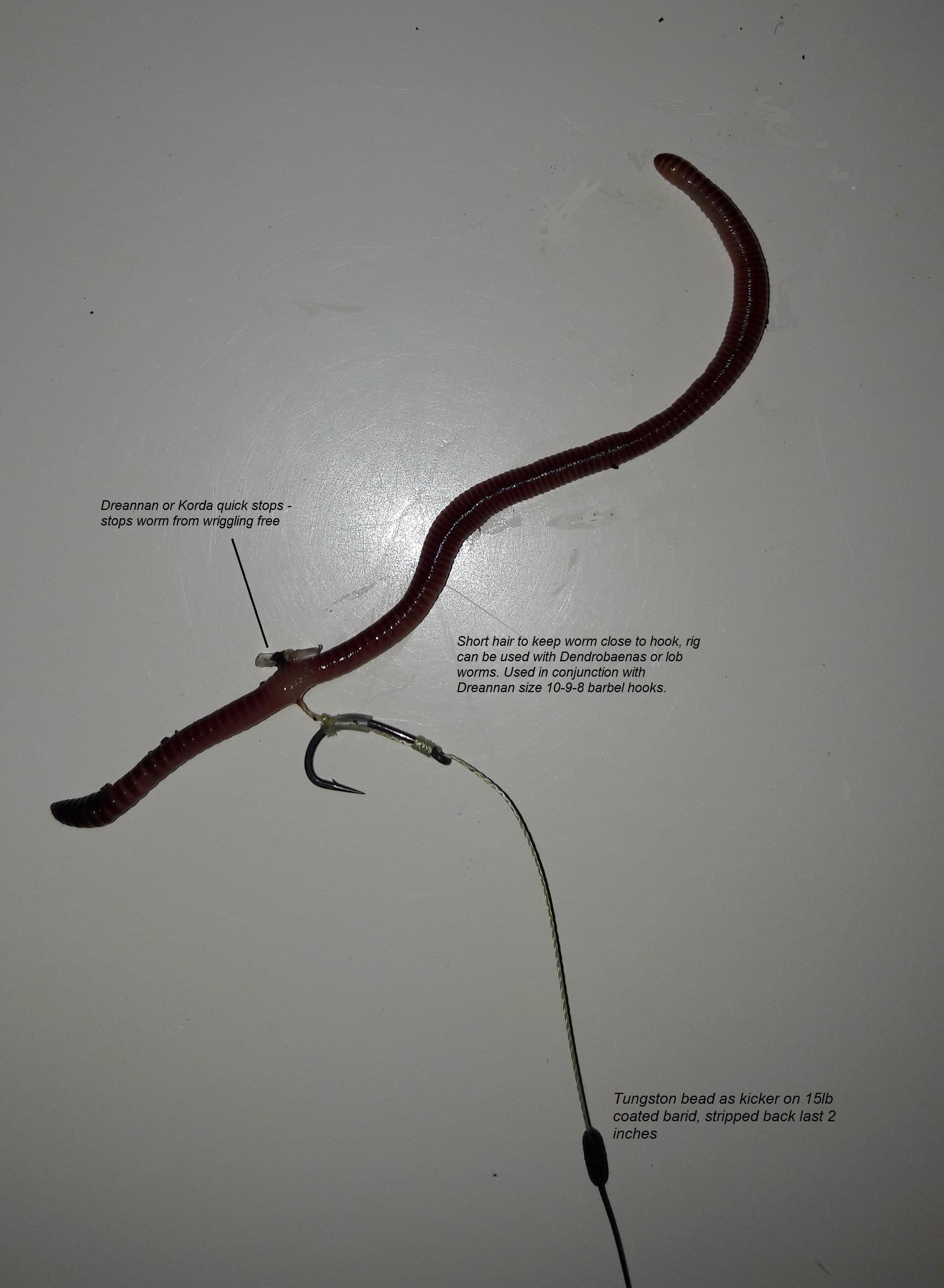 carp course fishing hooks size 8 barbless CG 10 pcs hair rigs 15lb